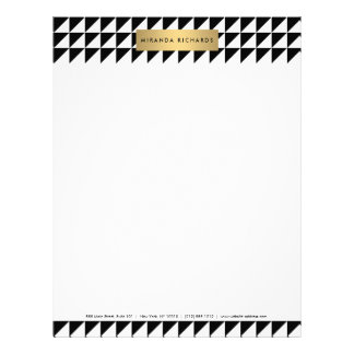 Chic and Modern Bold Triangle Pattern Letterhead