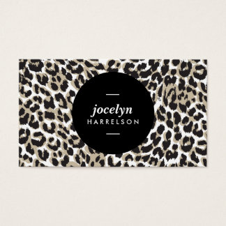 Chic and Stylish Leopard Print Business Cards