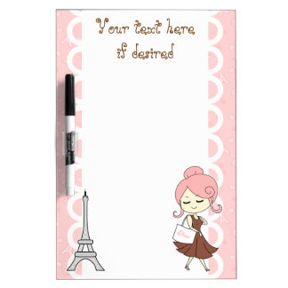 Chic and trendy Paris Eiffel tower Girly girl Dry Erase Board