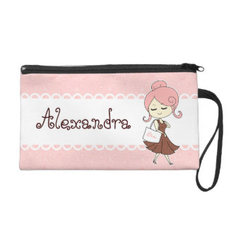 Chic and trendy Paris Eiffel tower Girly girl Wristlet