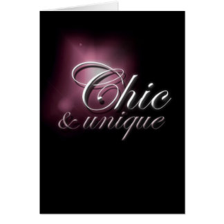 Chic (and Unique) Card