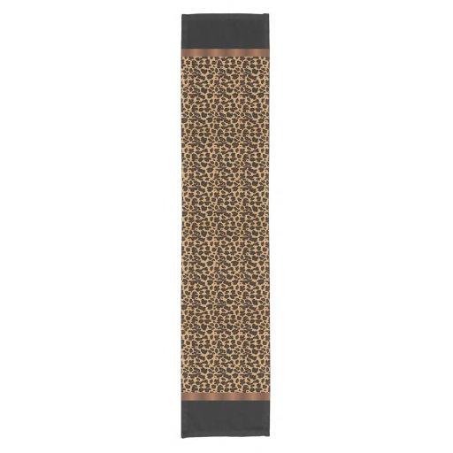 Chic Animal Leopard Print Short Table Runner : Zazzle