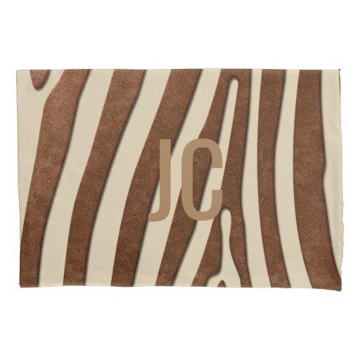 Chic Animal Print Optional Monogram Pillow Case