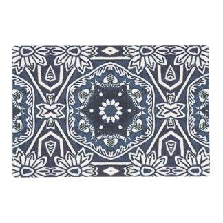 Chic Antique Dutch Delfts Blue Floral Pattern Placemat
