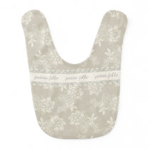 Chic Antique Lace Look Baby Bib