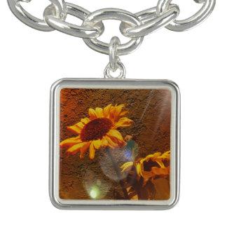 Chic Artistc Floral Sunflower Bokah Design Bracelets