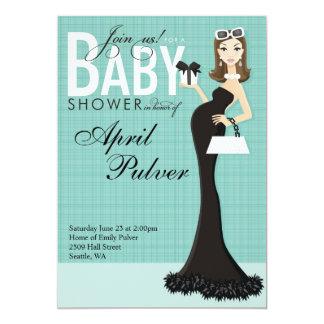 Chic Baby Boy 5x7 Paper Invitation Card