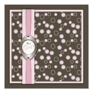 Chic Baby Girl Card Square