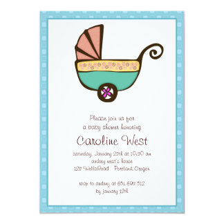 chic baby shower card