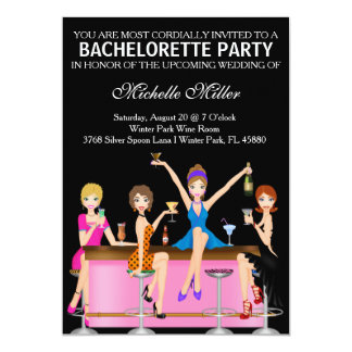 Chic Bachelorette Bash Custom Invtiation Personalized Invitation