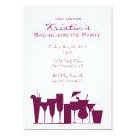 """Chic Bachelorette Party Invitation 5"""" X 7"""" Invitation Card"""