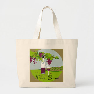 """CHIC BAG_""""WINE LOVER""""_2 CANVAS BAGS"""