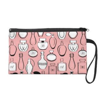 Chic Bagette Bag- Pink Perfumes Wristlet Purse