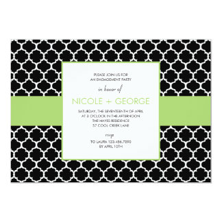 Chic Band General Party Invitation (Green Apple)
