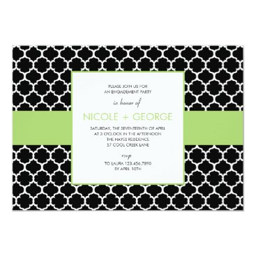 Toddler & Baby themed Chic Band General Party Invitation (Green Apple)