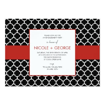 Toddler & Baby themed Chic Band General Party Invitation (Ruby)