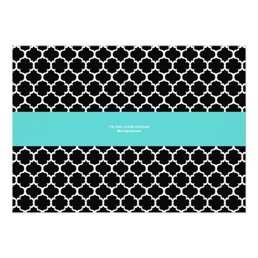 Chic Band General Party Invitation (Tiffany) Personalized Invite (back side)
