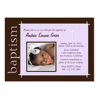 Chic Baptism Photo Invite [lavender]