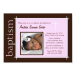 Chic Baptism Photo Invite [pink]