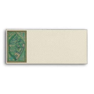 Chic Batik Envelopes ~ In Green