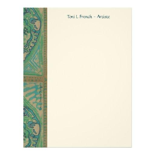 Chic Batik Stationary ~ In Green Letterhead