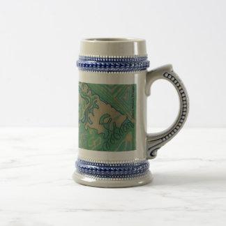 Chic Batik Stein ~ Green Mugs