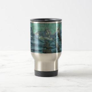 Chic Batik Travel Mug ~ Blue & Green