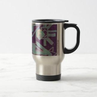 """""""Chic Batik"""" Travel Mug ~ Purple"""