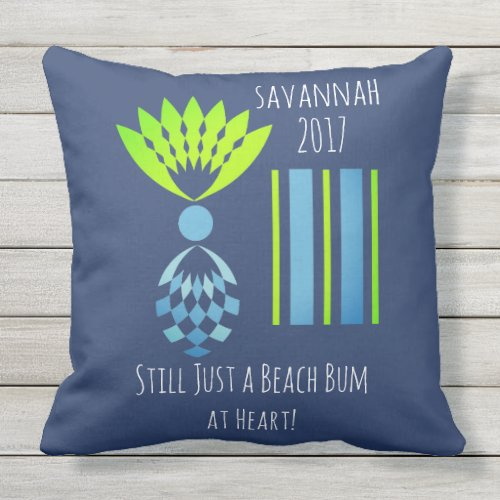 CHIC BEACH BUM_MOD TROPICAL PASTEL PINEAPPLE THROW PILLOW