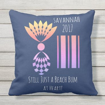 Beach Themed CHIC BEACH BUM_MOD TROPICAL PASTEL PINEAPPLE THROW PILLOW