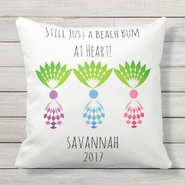 Beach Themed CHIC BEACH BUM_MOD TROPICAL PASTEL PINEAPPLES OUTDOOR PILLOW