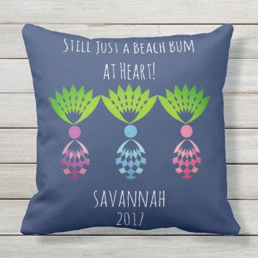 Beach Themed CHIC BEACH BUM_MOD TROPICAL PASTEL PINEAPPLES THROW PILLOW