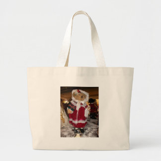 Chic Beautiful Christmas Love Have a Nice Day Large Tote Bag