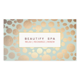 Chic Beauty Salon and Spa FAUX Gold Pattern Double-Sided Standard Business Cards (Pack Of 100)