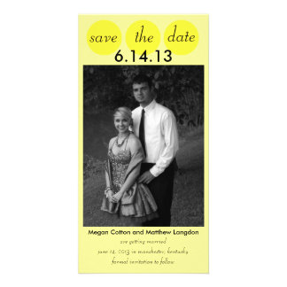 Chic Bird Silhouette & Dots Save the Date-Yellow Card