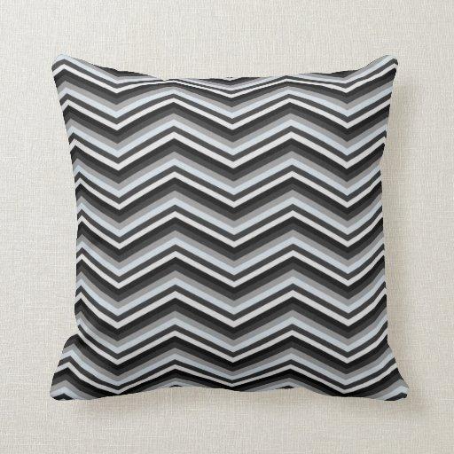 Chic Black And Grey Chevron Pattern Throw Pillow Zazzle