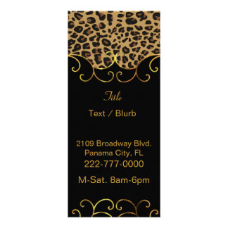 Chic Black and Jaguar Print Business Rack Card