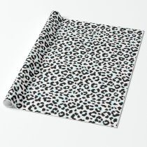 Chic black and white cheetah print wrapping paper