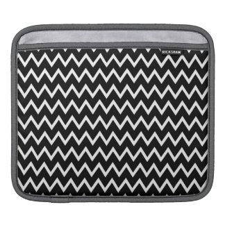 Chic Black and White Chevron Stripes iPad Sleeves