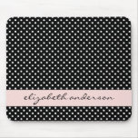Chic Black and White Dots Mouse Pads