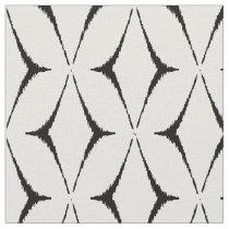 Chic black and white ikat tribal pattern fabric