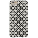 Chic black and white moroccan pattern ikat barely there iPhone 6 plus case
