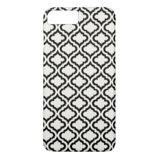 Chic black and white moroccan pattern ikat iPhone 7 plus case