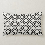 Chic black and white moroccan pattern ikat pillow