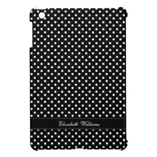 Chic Black and White Polka Dots Pattern Cover For The iPad Mini