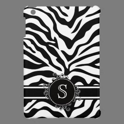 Chic Black and White Zebra Stripes iPad Mini Cover