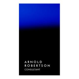 Chic black blue unique professional business card