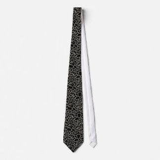 Chic Black Giraffe Print Elegant Animal Pattern Tie