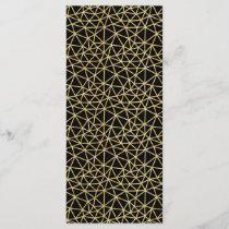 Chic Black Gold Glitter Stripe Geometric Pattern