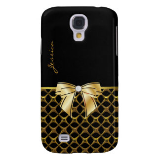 Chic Black & Gold Tone Samsung Galaxy S4 Case